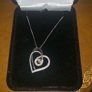 Kay jewelers multicolored diamond heart necklace